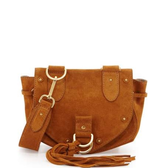 f97fd77c See by Chloe Collins Fringe Suede Saddle Bag